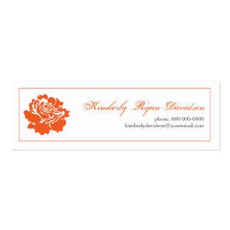 Single Blossom in Orange Business Card