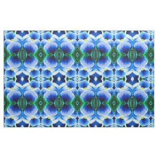 Single Blue Crocus Abstract Fabric