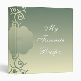 Single Canary Sage Bloom Recipe Book Vinyl Binder