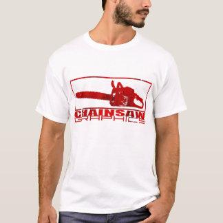 Single Chainsaw Graphics logo T-Shirt