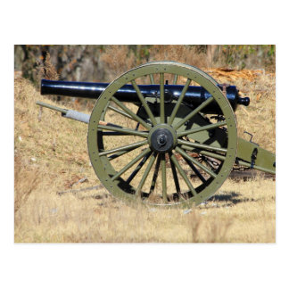 Single Civil War Cannon Postcard