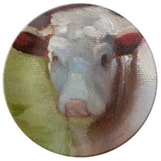 Single Cow Porcelain Plate