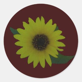 Single Cutout Wild Sunflower Classic Round Sticker