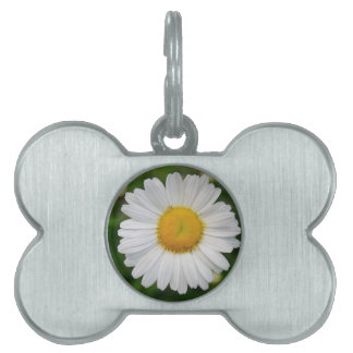 Single Daisy Flower Pet Name Tag