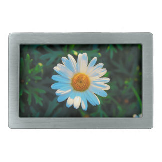 Single Daisy Rectangular Belt Buckles