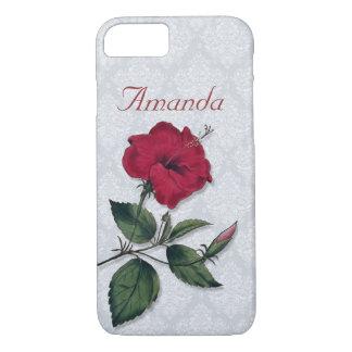 Single Dark Red Hibiscus Blossom iPhone 8/7 Case