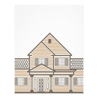 Single family house vector letterhead