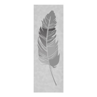 Single Feather  - Gray Poster