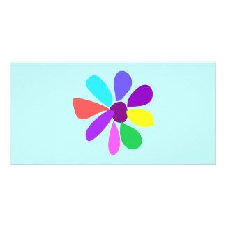 Single Flower Custom Photo Card