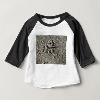 Single footprint of seagull bird on beach sand baby T-Shirt