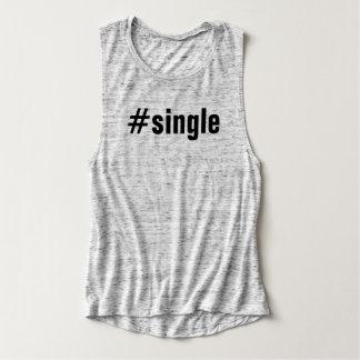 #Single Funny Hashtag Typography Women's Tank Top