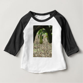 Single green pear hanging on the tree baby T-Shirt