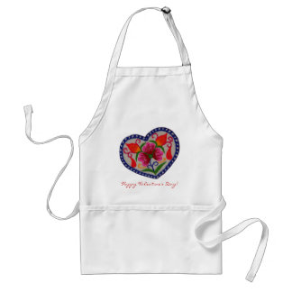 Single Heart Happy Valentines Day Standard Apron