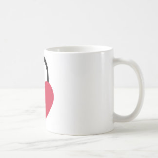 Single heart lock coffee mug