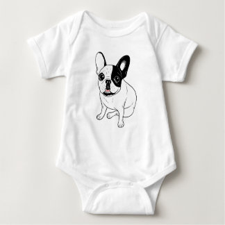 Single Hooded Brindle Pied Frenchie Baby Bodysuit