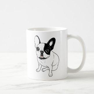 Single Hooded Brindle Pied Frenchie Coffee Mug