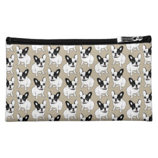 Single Hooded Brindle Pied Frenchie Cosmetic Bags