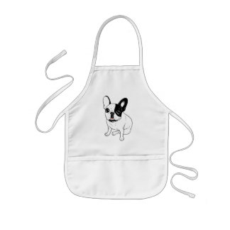 Single Hooded Brindle Pied Frenchie Kids Apron