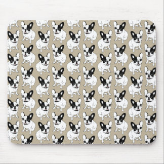 Single Hooded Brindle Pied Frenchie Mouse Pad