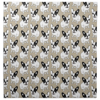 Single Hooded Brindle Pied Frenchie Napkin