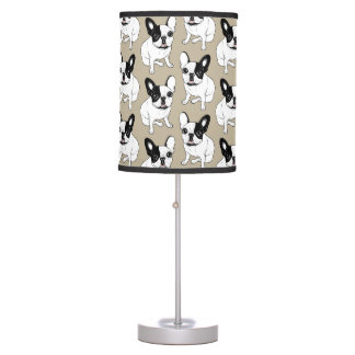 Single Hooded Brindle Pied Frenchie Table Lamp