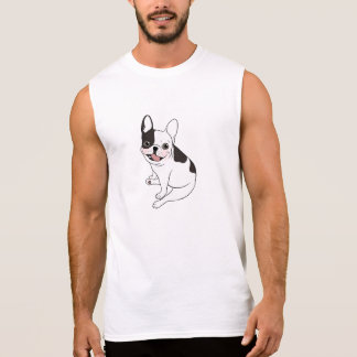 Single hooded pied Frenchie is excited for the pla Sleeveless Shirt