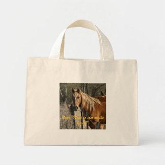 single horse bag
