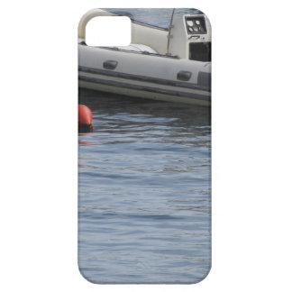 Single inflatable dinghy with outboard motor iPhone 5 case