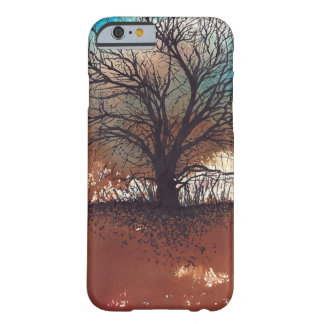 Single Inked Black Tree on Watercolor Background Barely There iPhone 6 Case