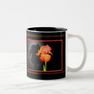 Single Iris Two-Tone Coffee Mug