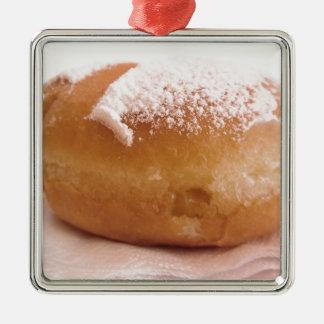 Single Krapfen ( italian doughnut ) Metal Ornament