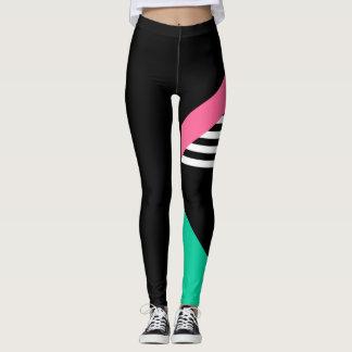 single leg bold print leggings