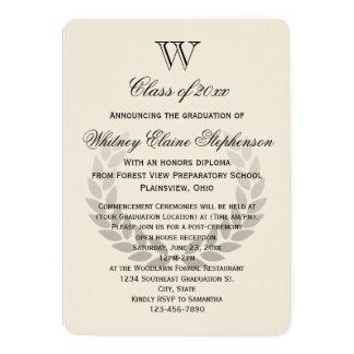Single Letter Monogram Classic College Graduation Card