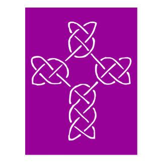 Single line Celtic Style Cross Transp Postcard