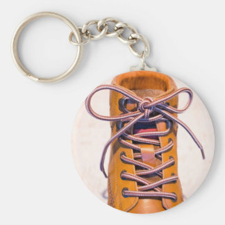 Single male shoe basic round button keychain