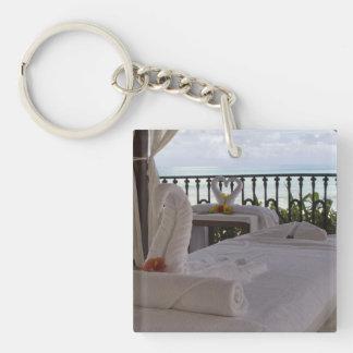 Single Massage Table Single-Sided Square Acrylic Keychain