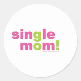 Single Mom Love by MDillon Designs Classic Round Sticker