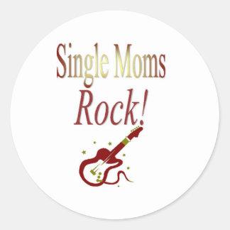 Single Moms Rock! Gear Classic Round Sticker