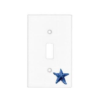Single Navy Blue Starfish Light switch Plate