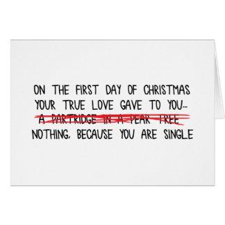 Single on the Holidays Card