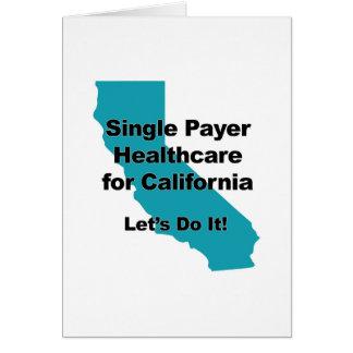 Single Payer Healthcare for California Card