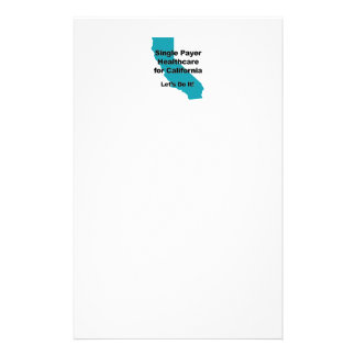 Single Payer Healthcare for California Stationery