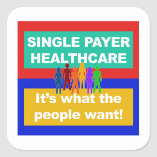 Single Payer Healthcare—It's What the People Want Square Sticker