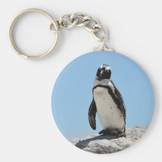 Single Penguin Photo Keychain