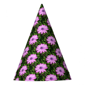 Single Pink African Daisy Against Green Foliage Party Hat