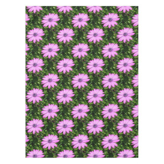 Single Pink African Daisy Against Green Foliage Tablecloth