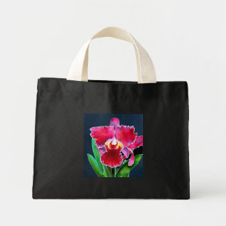 Single Pink Orchid Mini Tote Bag