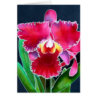 Single Pink Orchid Card