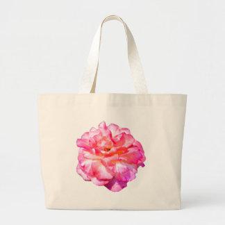 Single Pink Rose Jumbo Tote Bag