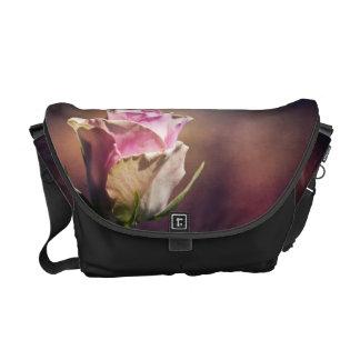 Single Pink Rose Courier Bag